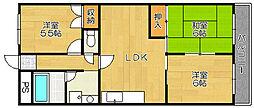 モンプラン浜寺[3階]の間取り