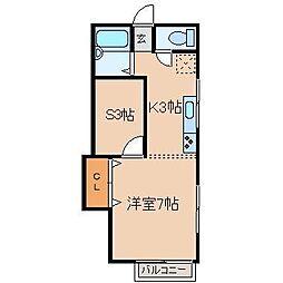 ダイワマンション[3-B号室]の間取り