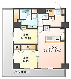グランセジュール江坂[9階]の間取り