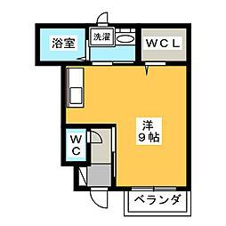 静岡県三島市徳倉4丁目の賃貸アパートの間取り