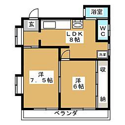 平安ビル[3階]の間取り