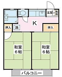 ビレッジ736[2階]の間取り