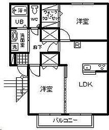コンチェルト桜[A102号室]の間取り