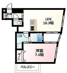 JR東海道・山陽本線 新大阪駅 徒歩3分の賃貸マンション 4階1LDKの間取り