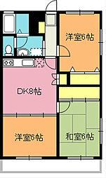 ナインシティー串橋[1階]の間取り