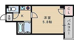 メゾンナカムラ[2階]の間取り