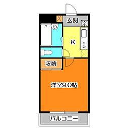ソナーレアリサ[2階]の間取り