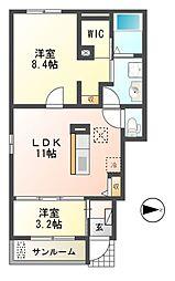 House Eureka[1階]の間取り