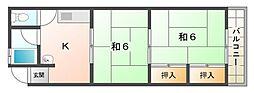 グリーンハイツ関[2階]の間取り
