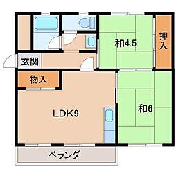 グリーンマンションI[3階]の間取り