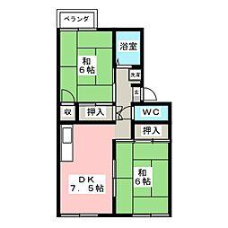 早坂コ−ポ[2階]の間取り