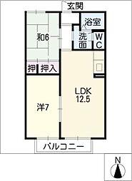 ガーデンタウン A棟[1階]の間取り