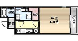 サイト京都西院[3A号室号室]の間取り