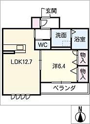 ゴユ・トージュ[3階]の間取り
