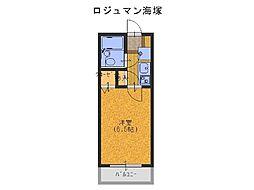 ロジュマン海塚I[6階]の間取り
