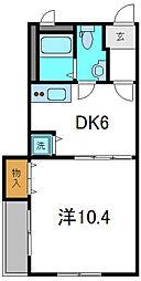 Osaka Metro谷町線 大日駅 徒歩10分の賃貸マンション 3階1DKの間取り