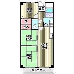 メルベーユ[2階]の間取り