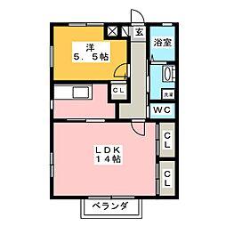 フレ・セリシエ D棟[2階]の間取り