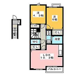 シャイニー[2階]の間取り