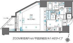 ズーム新宿南ファースト[10階]の間取り