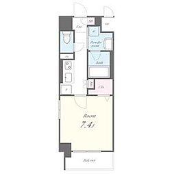 名古屋市営東山線 池下駅 徒歩9分の賃貸マンション 5階1Kの間取り