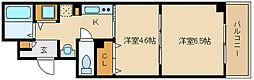 フォンテーヌ藤井寺[3階]の間取り