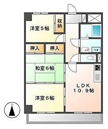 愛知県名古屋市東区大幸1の賃貸マンションの間取り