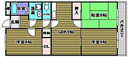 メゾン貴望ヶ丘[3階]の間取り
