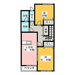 プランドールGT[2階]の間取り
