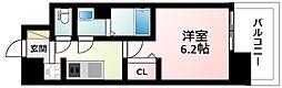 Osaka Metro御堂筋線 東三国駅 徒歩12分の賃貸マンション 6階1Kの間取り