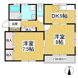 YIL高梨 B棟[2階]の間取り