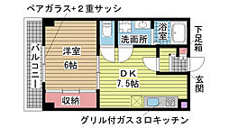 サザン神戸品川[2階]の間取り