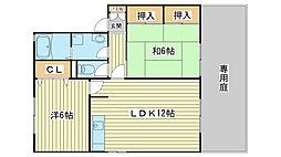 ボンヌシェール矢倉[B103号室]の間取り
