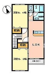 メゾン・ド・ソレイユ〜Maison de soleil〜[2階]の間取り