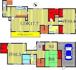 [一戸建] 千葉県柏市桜台 の賃貸【/】の間取り