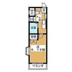 シティビル仙台[4階]の間取り