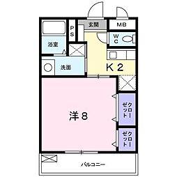 ミレーユII[1階]の間取り