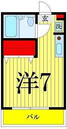 藤コーポ[303号室]の間取り