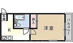 コーポサンライズ[3階]の間取り