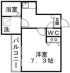 クレフラスト静岡大南[202号室]の間取り