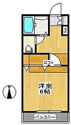 メゾン・ド・マロン[2階]の間取り