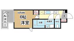 兵庫県神戸市灘区将軍通4丁目の賃貸マンションの間取り
