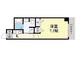 アスリート新大阪II[11階]の間取り