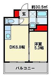 フェルト127 10階1DKの間取り