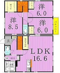 [タウンハウス] 千葉県松戸市大橋 の賃貸【/】の間取り