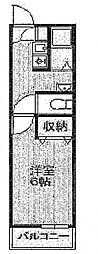 マ ピエス西生田[1階]の間取り