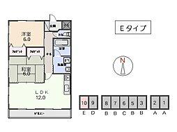 竹屋台ハウス3[3110号室]の間取り