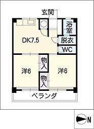 シャトー高蔵[3階]の間取り