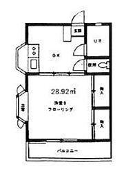 大沢ハイム[2階]の間取り