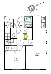 フォレストハウス野間[B102号室]の間取り